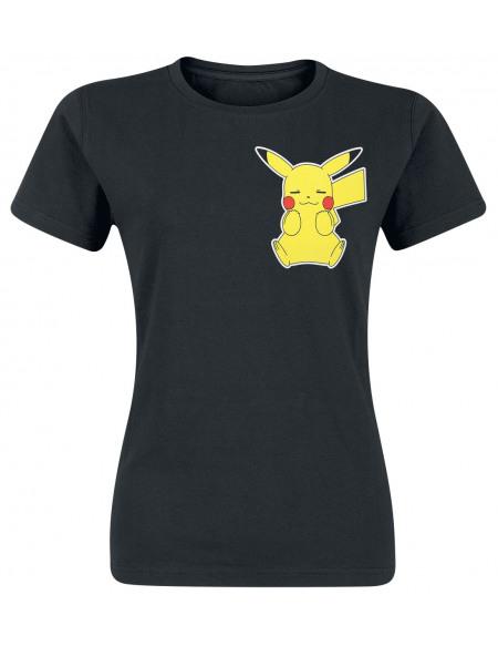 Pokémon Pikachu T-shirt Femme noir