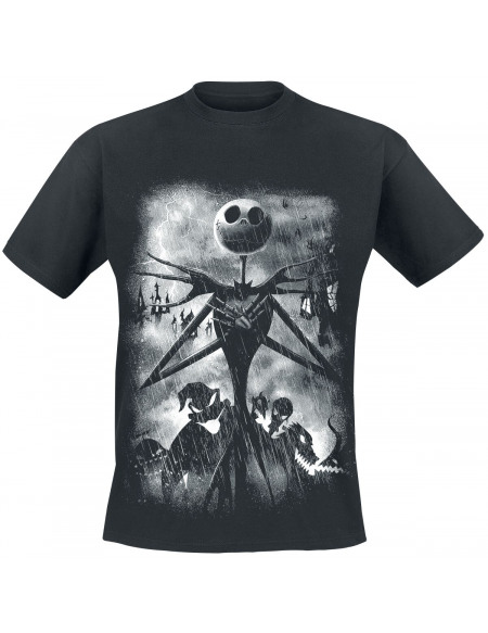 L'Étrange Noël De Monsieur Jack Stormy Skies T-shirt noir