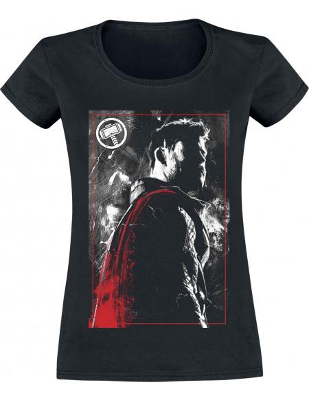 Avengers Endgame - Thor T-shirt Femme noir