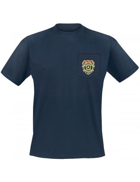 Resident Evil Racoon Police Department - Pocket T-shirt bleu