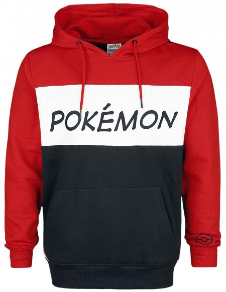 Pokémon Logo Sweat à capuche rouge/noir/blanc