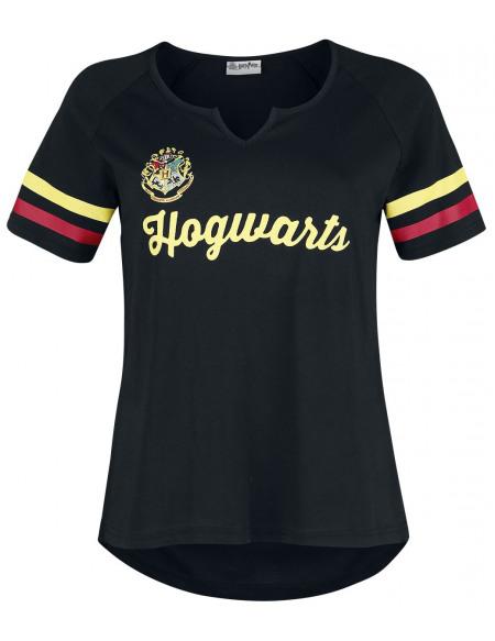 Harry Potter Poudlard T-shirt Femme noir