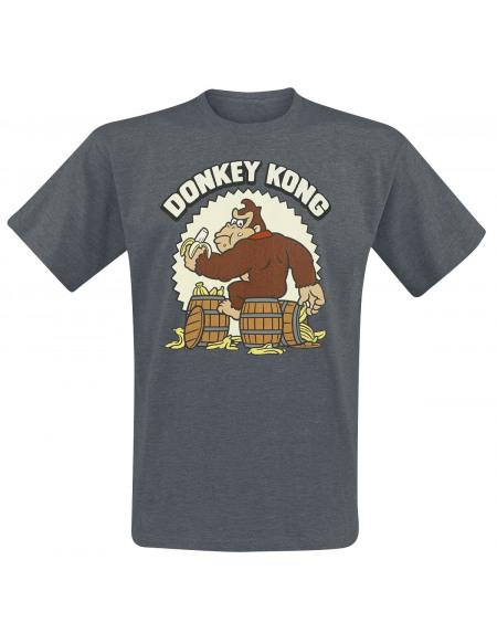 Super Mario Donkey Kong T-shirt gris sombre chiné
