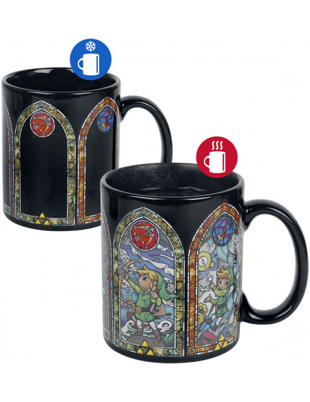 The Legend Of Zelda Heat Change Mug Mug noir