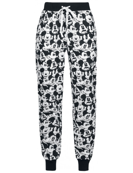 Mickey & Minnie Mouse Tête Bas de pyjama noir/blanc