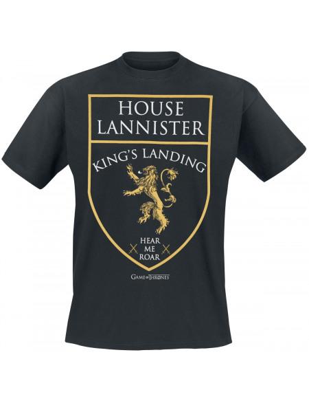 Game Of Thrones House Lannister - Kings Landing - Hear Me Roar T-shirt noir