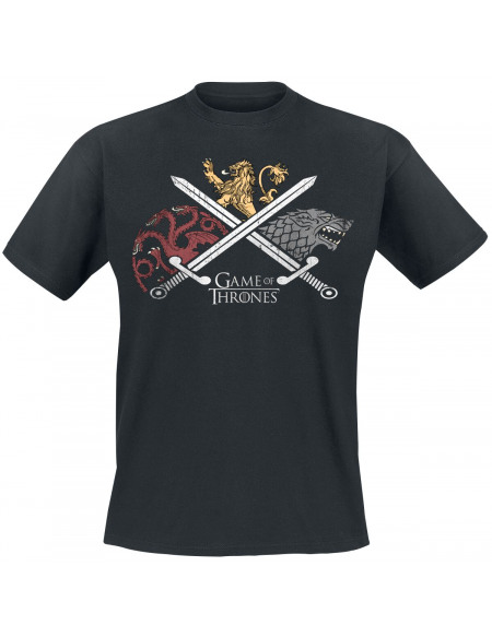 Game Of Thrones Le Combat Des Maisons T-shirt noir