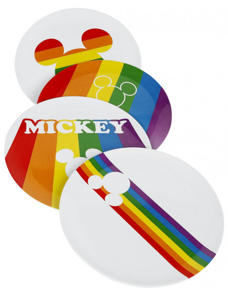 Mickey & Minnie Mouse Micky Rainbow Assiette multicolore