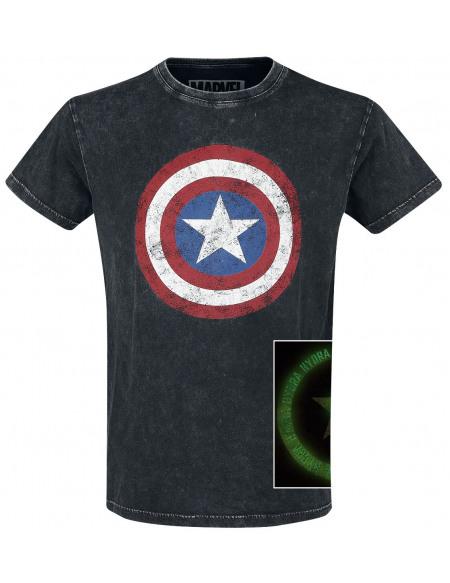 Captain America Logo Captain America T-shirt noir