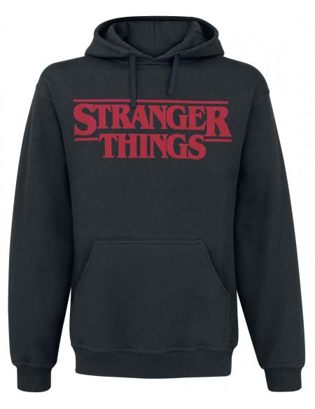 Stranger Things Logo Classique Sweat à capuche noir