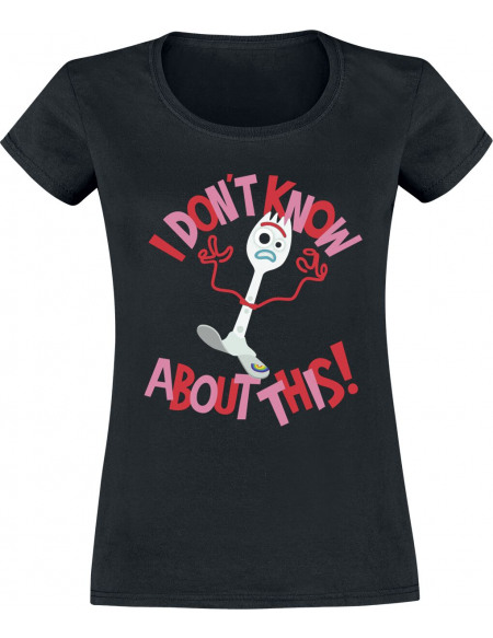 Toy Story 4 - Forky - I Don't Know About This! T-shirt Femme noir