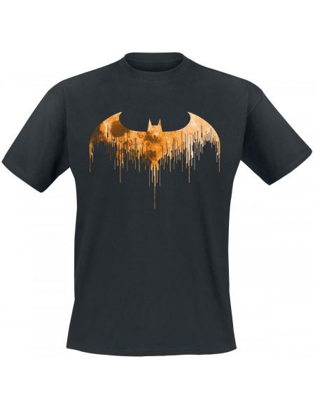 Batman Dripped Logo T-shirt noir