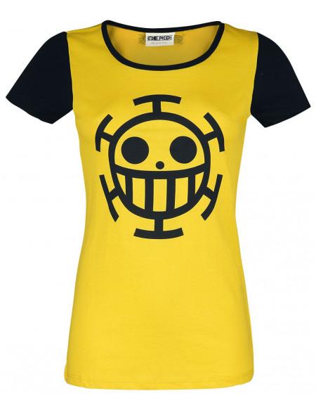One Piece Trafalgar T-shirt Femme jaune/noir