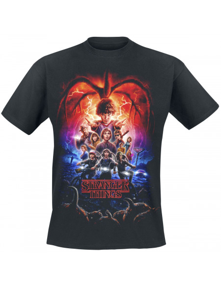 Stranger Things Affiche Saison 2 T-shirt noir