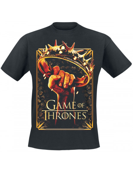 Game Of Thrones Couronne T-shirt noir