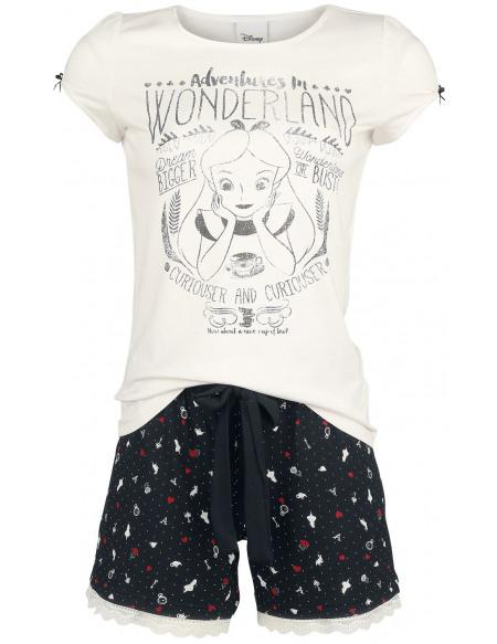 Alice Au Pays Des Merveilles Vive Maria - My Little Pyjama noir/blanc