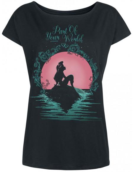 La Petite Sirène Part Of Your World T-shirt Femme noir