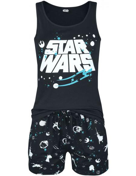 Star Wars Light Side Space Pyjama noir