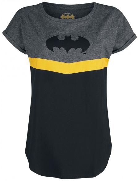 Batman Batman T-shirt Femme chiné noir/gris