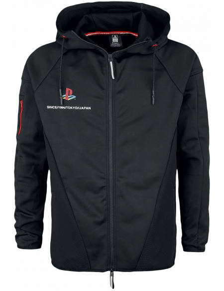 Playstation Tech Sweat Zippé à Capuche noir