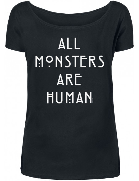 American Horror Story All Monsters Are Human T-shirt Femme noir