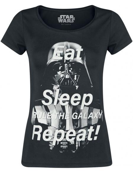 Star Wars Darth Vader - Eat Sleep Repeat T-shirt Femme noir