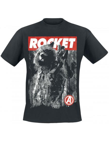 Avengers Endgame - Rocket T-shirt noir