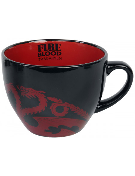 Game Of Thrones Maison Targaryen - Tasse Mug noir/rouge