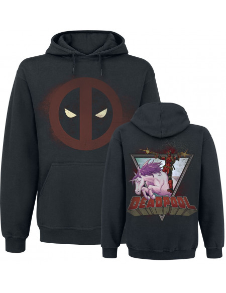 Deadpool Licorne Sweat à capuche noir