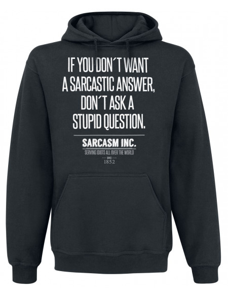 Sarcasm Inc. Sweat à capuche noir