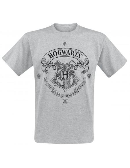 Harry Potter Poudlard T-shirt gris chiné