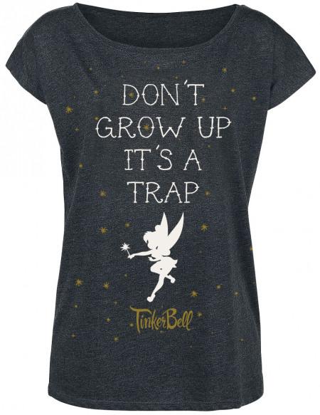 Peter Pan Peter Pan - Don't Grow Up T-shirt Femme gris sombre chiné