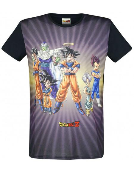 Dragon Ball Z Charaktere T-shirt noir