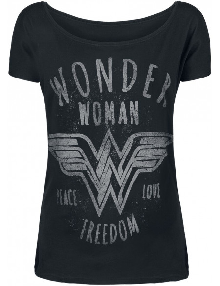 Wonder Woman Freedom T-shirt Femme noir