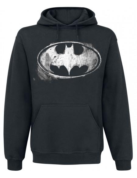 Batman Logo Délavé Sweat à capuche noir
