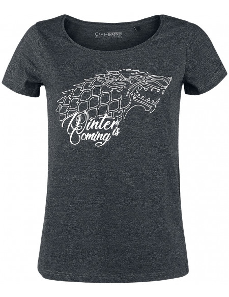 Game Of Thrones Maison Stark - Winter Is Coming T-shirt Femme Gris anthracite chiné