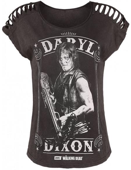 The Walking Dead Daryl Dixon T-shirt Femme marron