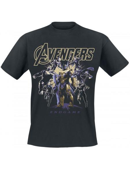 Avengers Endgame - Ready To Fight T-shirt noir