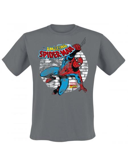 Spider-Man Usé T-shirt gris