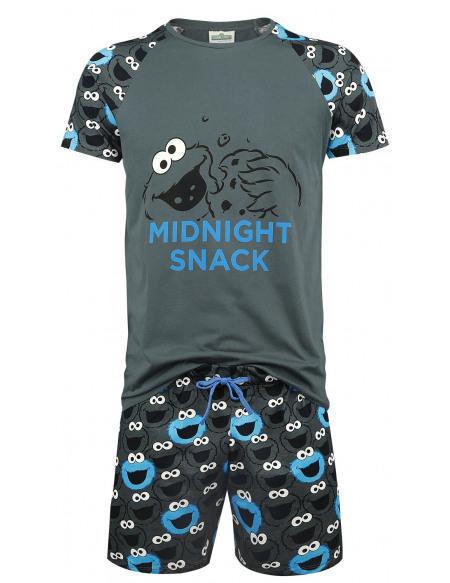 Sesame Street Cookie Monster - Midnight Snack Pyjama gris
