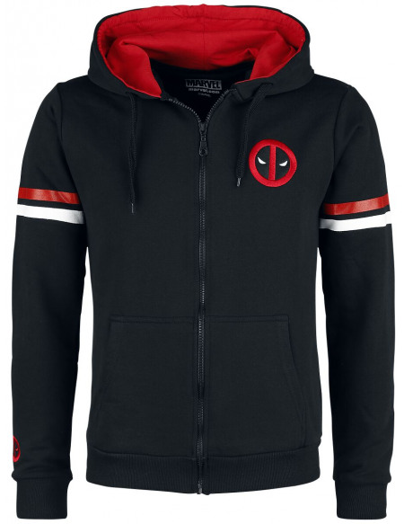 Deadpool Department K Sweat Zippé à Capuche noir