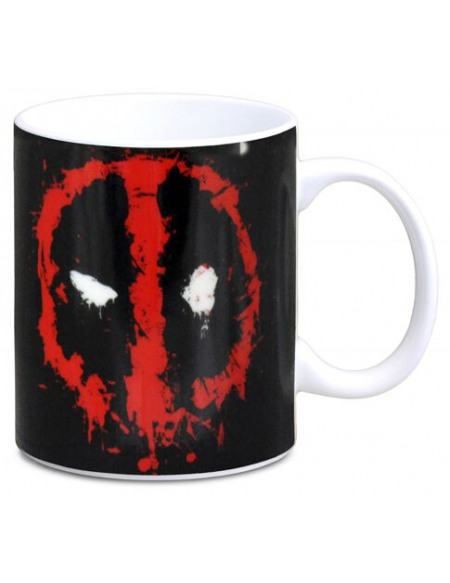 Deadpool Deadpool Logo Mug rouge/noir/blanc