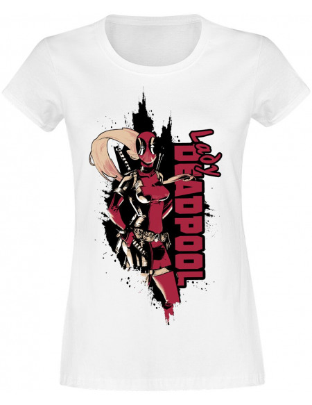Deadpool Lady Deadpool T-shirt Femme blanc