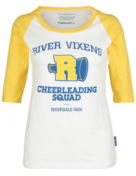 Riverdale Riverdale Haut à manches longues jaune/blanc