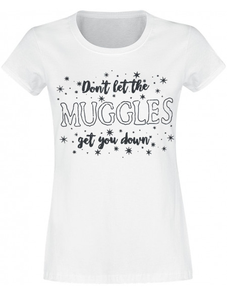 Harry Potter Don't Let The Muggles Get You Down T-shirt Femme blanc