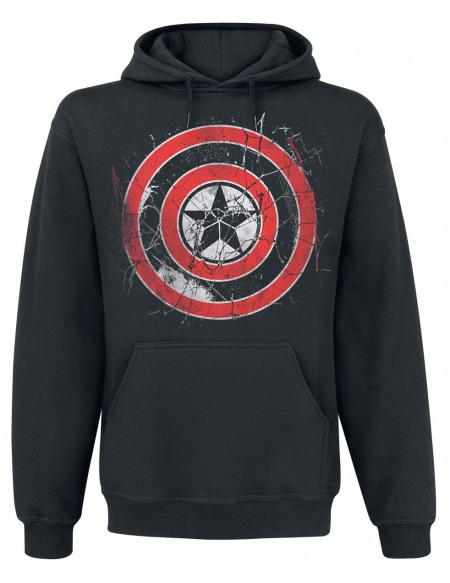 Avengers Endgame - Captain America - Logo Sweat à capuche noir