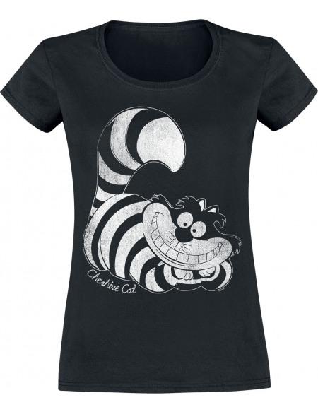 Alice Au Pays Des Merveilles Le Chat Du Cheshire T-shirt Femme noir