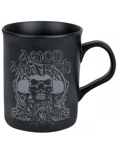 Amon Amarth Crânes Barbus Mug noir mat