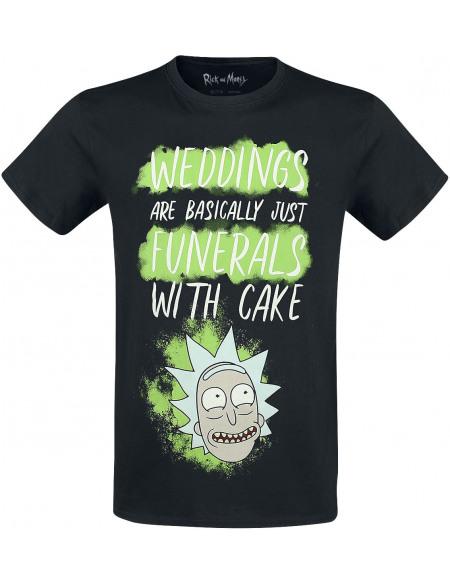 Rick & Morty Weddings Funerals T-shirt noir
