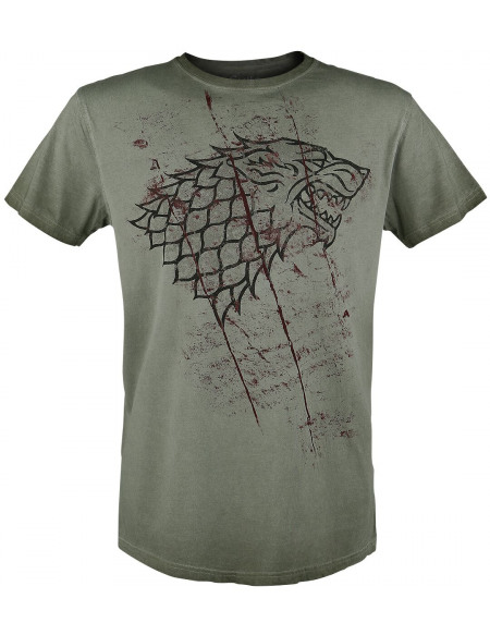 Game Of Thrones Emblème Stark Entaillé T-shirt olive